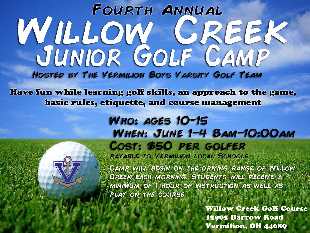 Youth Golf Camp Announced!