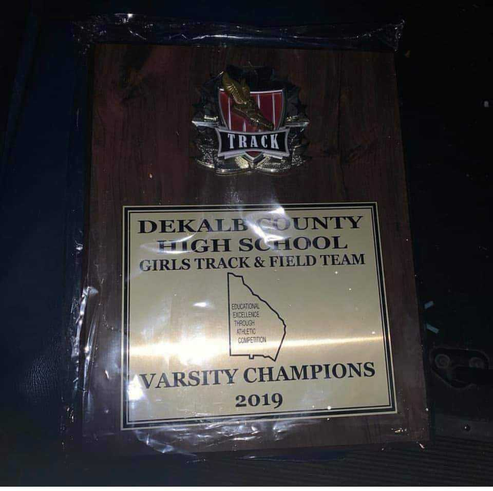 MILLER GROVE HIGH SCHOOL GIRLS TRACK DEKALB COUNTY TRACK AND FIELD CHAMPIONS