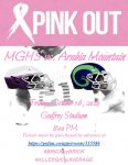 PINK OUT: MGHS vs Arabia Mountain Friday October 16, 2020 @8:00pm