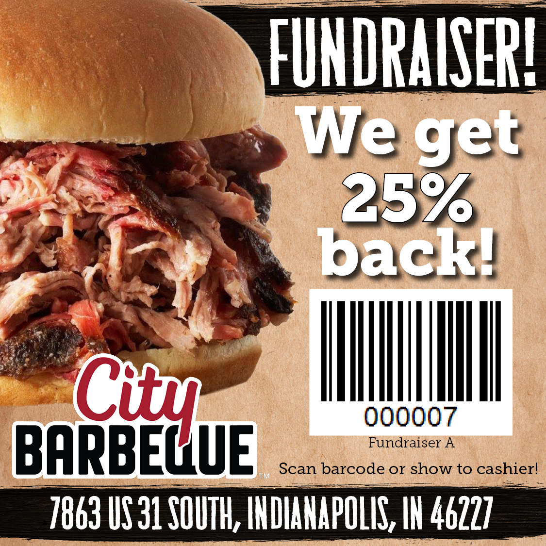 Athletic Department Fundraiser at City Barbeque November 20th