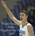 Styles McCorkle Earns 2021 PAAC Player of the Year