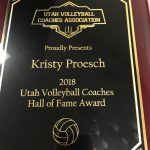 Kristy Proesch receives Utah Valley Hall of Fame Award