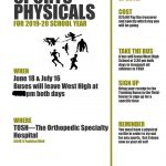 2019-2020 SPORTS PHYSICALS 6/18 & 7/16