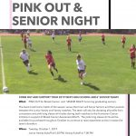 Girls Soccer 'PINK OUT and SENIOR NIGHT' today 10/1
