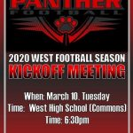 Football Kickoff Meeting Today 3/10