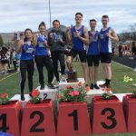 Boys Varsity Track finishes 2nd at Medford Rotary Relays