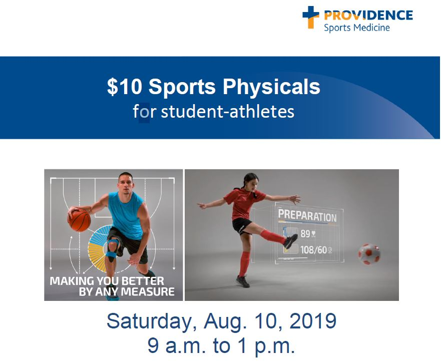 $10 Sports Physicals Available on August 10th, 2019