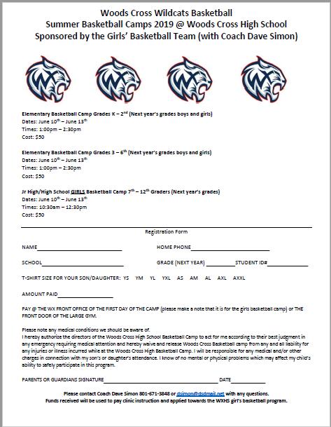 Woods Cross Basketball Camp 2019