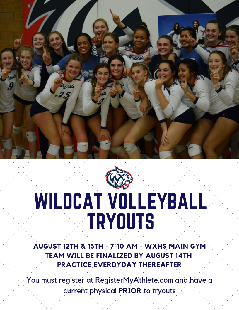 WXHS Volleyball Tryout Information