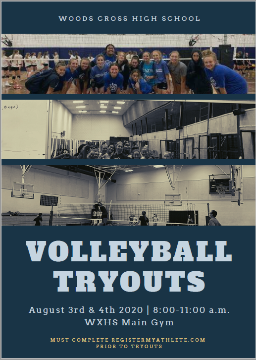 Volleyball Tryouts August 3rd & 4th 8-11 a.m.