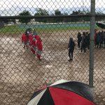 Softball Team Attends Graduation Before Rainout