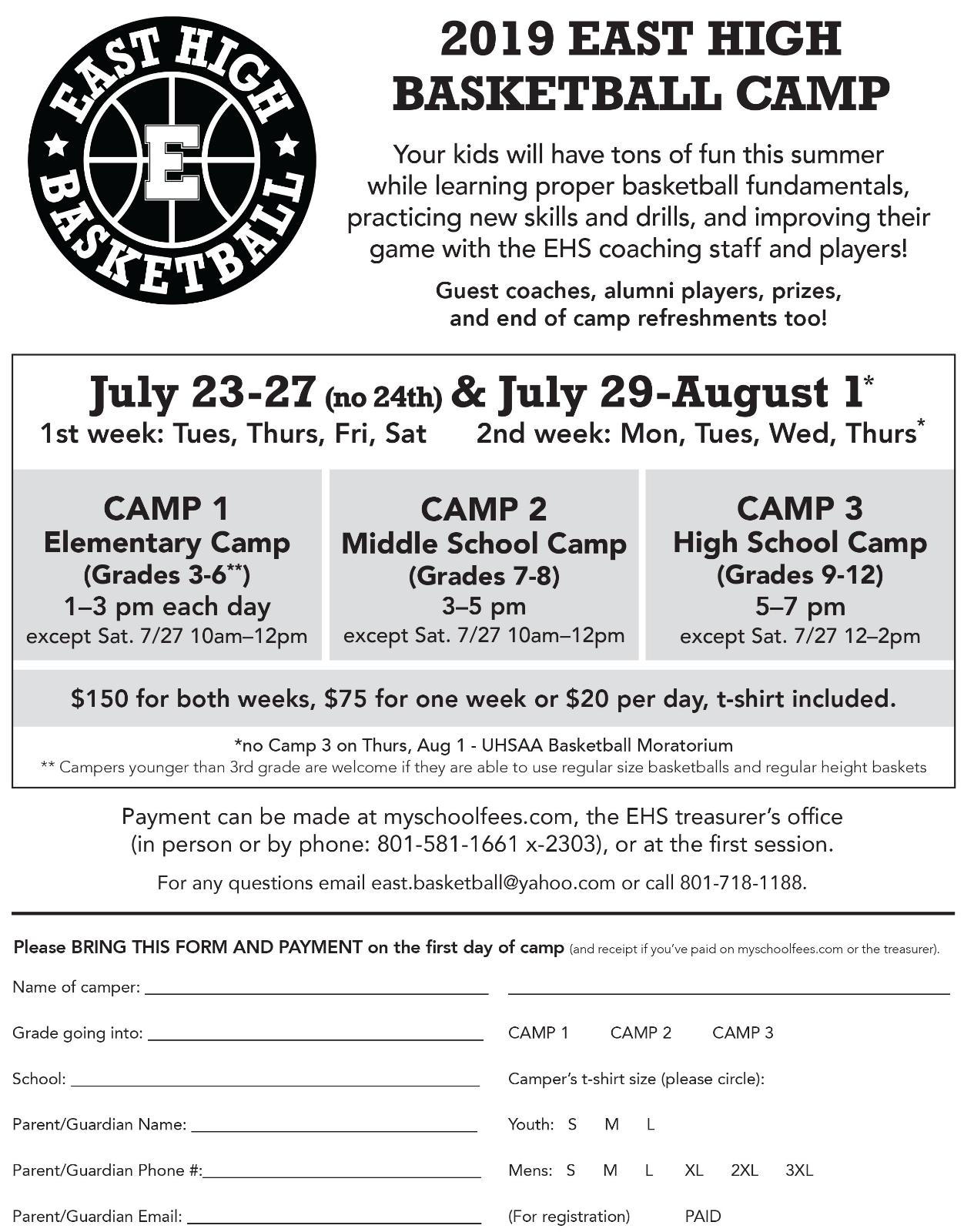 2019 Boys' Basketball Camp
