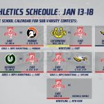 Varsity Schedules: JAN 13-18