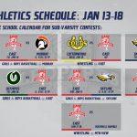 Varsity Schedules: JAN 13-18