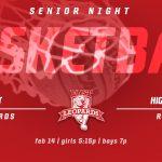 Basketball Senior Night vs highland