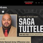 Class of 97 Saga Tuitele Named Army Line Coach