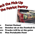 Pack the Pick-up for The Patriot Pantry -10/26
