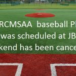 RCMSAA Baseball Play Day is Cancelled