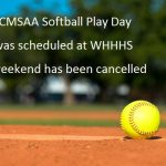 RCMSAA Softball Play Day is Cancelled