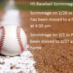 Baseball Scrimmage Updates