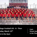 Heritage Annual Lift-A-Thon on March 12