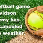MS Softball game canceled