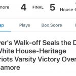 Varsity Baseball wins with dramatic ending