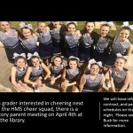 MS Cheer meeting on 4/4