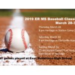 MS Baseball to play in the ER MS Baseball Classic