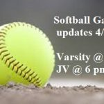 HS Softball: Updates for 4/4 game