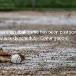 HS Baseball: Game postponed 4/8/19