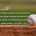 HS Baseball: Schedule Updates 4/8/19