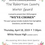 Winter Guard: Robertson County Guard Performance