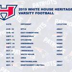 Patriots Football 2019 Varsity Schedule Released