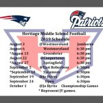 Patriots Middle School Football 2019 Schedule Released