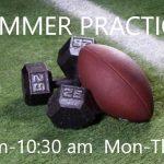 HS Football- Patriots begin summer workouts