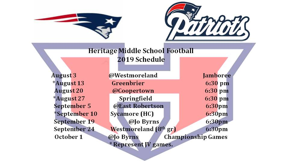 MS Football Schedule Updated