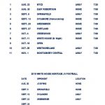 HS Football Schedule