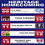 HS Homecoming Week Dress Up Days