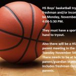 HS Basketball Tryouts