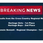 Cross Country results from Regionals