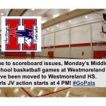 MS Basketball: Venue Change for 10/28