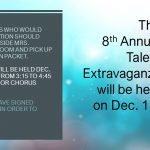 8th Annual HS Talent Extravaganza set for December 13