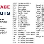 MS Basketball: Schedules are posted