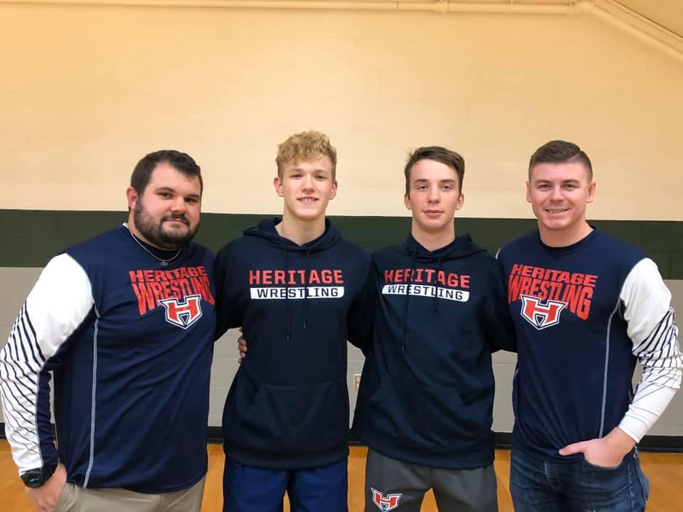 HS Wrestling- Boys make history at Heritage