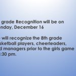 MS 8th Grade Recognition