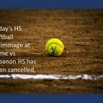 HS Softball: Today's Scrimmage Cancelled