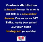 Yearbook distribution delayed