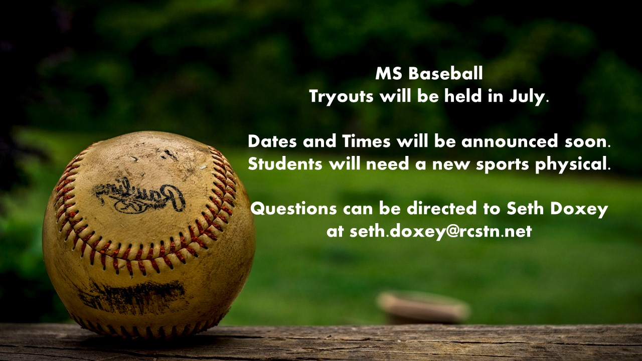 MS Baseball Tryout Information