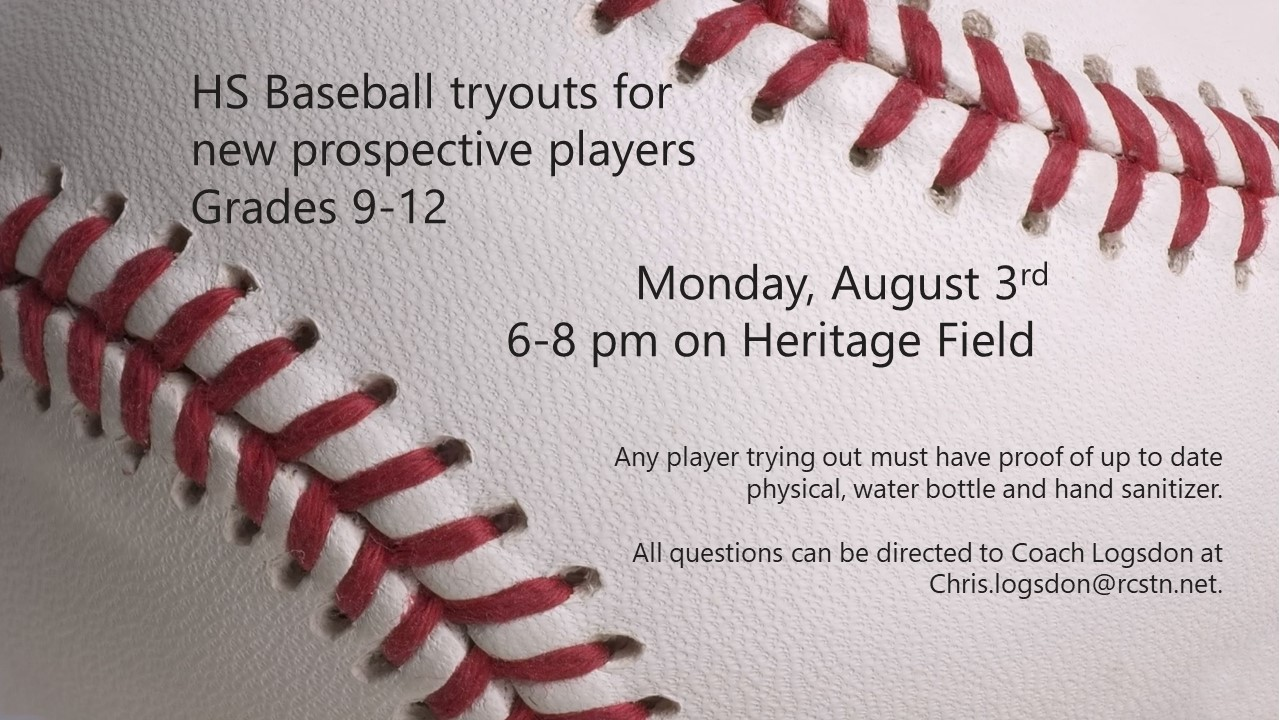 HS Baseball: Tryouts for new prospective players grades 9-12